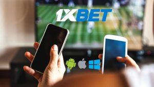 Мобильное приложение 1хБет в смартфоне